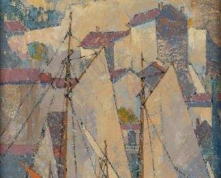 "Frederick M. Loewenguth (American, b. 1887) ""Portofino"""