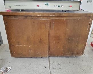 """Wooden cabinet- contents not included 58 1/2"""" X 24"""" X 56"""""""