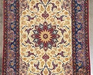 5'3 X 3'5 Fine Part Silk Rug Fine Weave