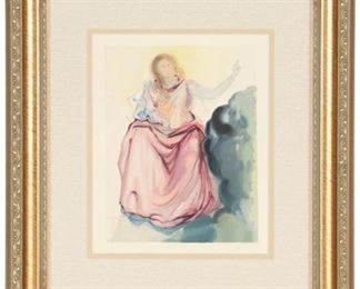"""Dali """"Beatrice resolves the doubts of Dante"""" Giclee"""