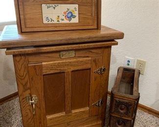 Vintage White Clad Bread Box