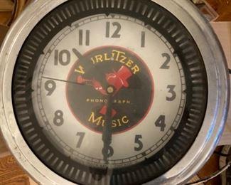 Vintage Wurlitzer Neon  Clock