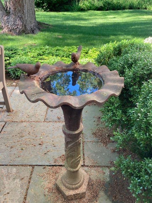 Pair Decor Bird Baths