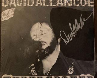 Signed David Allan Coe Unground Vinyl