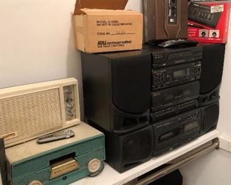 Vintage radios and other electronics