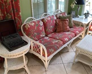 Lovely Bentwood set with wicker tables
