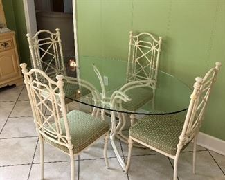 Breakfast set with bamboo motif chairs