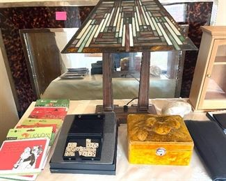 Beautiful Lamp -Funny Cards-travel domino game-jewelry box