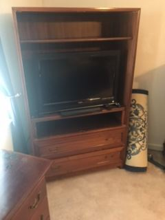 Two piece display cabinet or bookcase