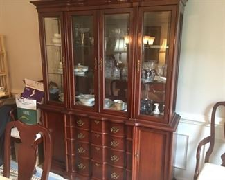 Lighted china cabinet, part of dining room set- priced separately