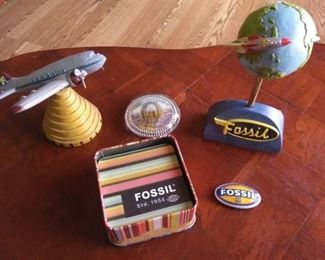 Fossil Brand Lot and Gigantic Wheel Blackpool Paperweight