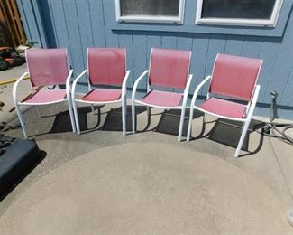 Four Lawn Chairs