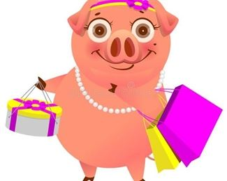 shopping pig
