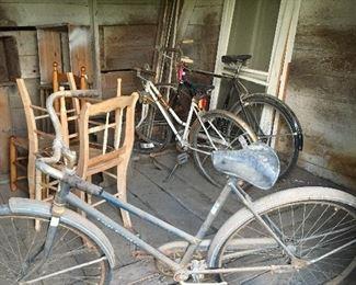 Vintage bicycles, three.