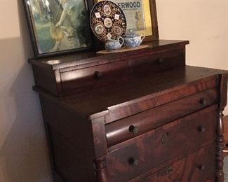 antique chests. Vintage art and posters.