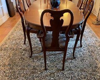 Neutral tan, black & cream rug