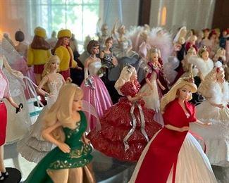 Huge collection of Hallmark Barbie Christmas Ornaments