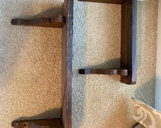 Handmade wooden shelves