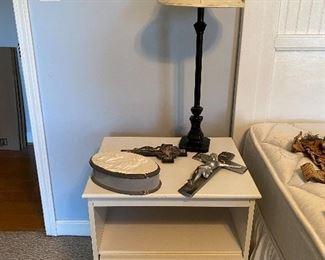 Nightstand, lamps & accessories