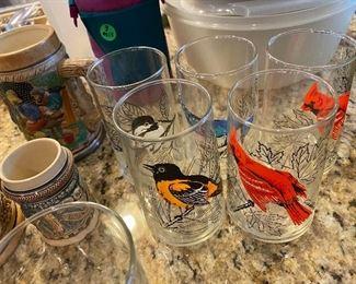 Collectible bird glassware