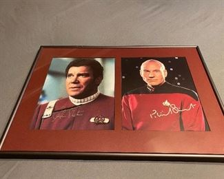 Signed Star Trek Photos, framed & matted, includes certificate of authenticity