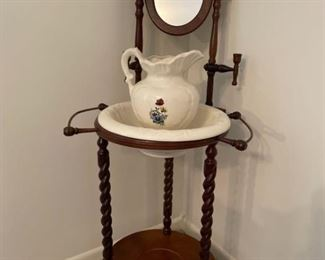 Washstand with Pitcher and Basin
