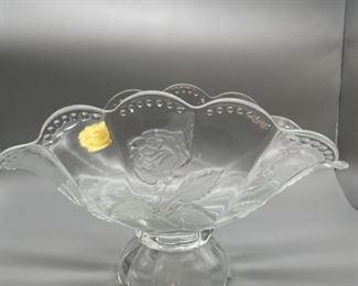 MCM Imperlux Handcut Crystal Bowl