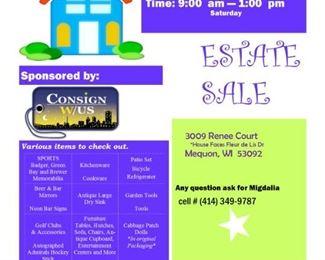 Flyer Mequon Estate Sale