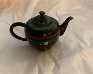 cloisonné tea pot mini