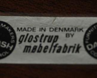 DANISH GLOSTRUP MOBELFABRIC  TABLE AND CHAIRS