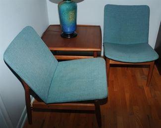 DANISH Chairs by  Grete Jalk for Glostrup Møbelfabrik  and Teak table by Grete Jalk for Glostrup Møbelfabrik, 1960s