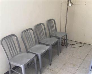 Gray Metal Chairs
