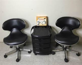 Pedicure Chairs, Cart and New Nail Drill