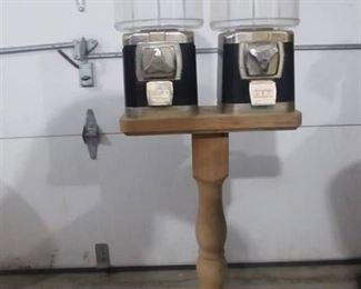 Candy Machine on wood pedestal