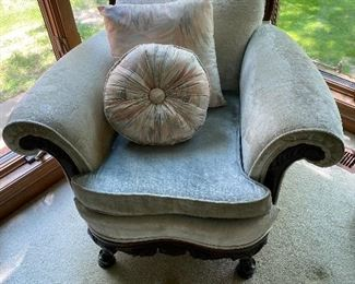 AWESOME BABY BLUE ANTIQUE CHAIRS