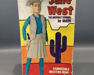 """Louis Marx & Co. Jane West """"The Moveable Cowgirl"""" Toy"""