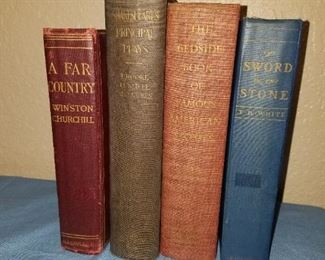 Book collection with many vintage books!