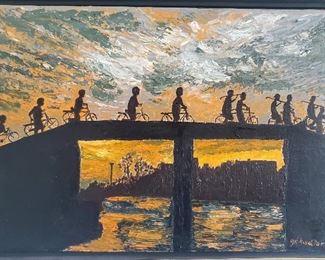 oil painting signed Kudler