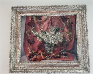 Rosella Hartman signed oil painting still life
