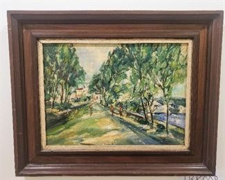 Oil painting signed Clarence McCarthy