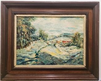 Landscape signed Clarence McCarthy oil painting