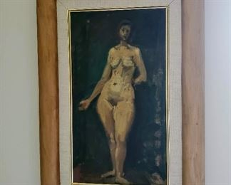 Moses Soyer oil painting