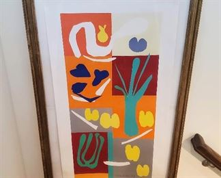 Matisse Vegetaux lithograph signed in the plate