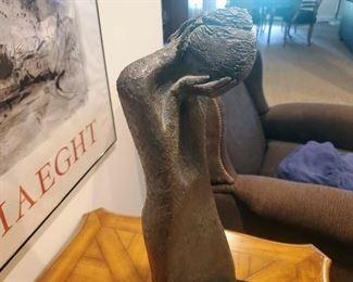 David Unger bronze Weeping Mother