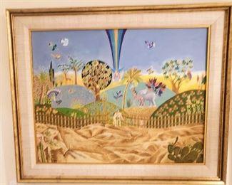 Heinz Seelig oil painting Garden of Eden