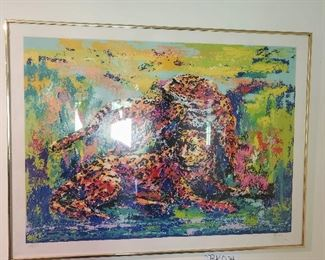 Mark King signed and numbered lithograph Leopard Pride
