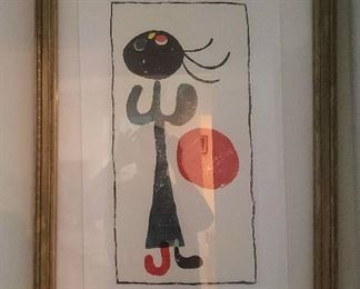 Nicely framed Miro Graveur lithograph poster