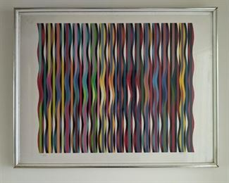 """Torah Mantle """"Agamograph"""" Yaacov Agam signed and numbered"""