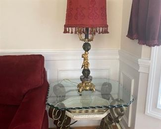 Lamp & side table