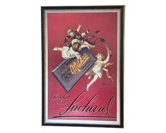 Vintage Suchard Chocolat au Lait Poster, Framed, https://townandsea.com/product/vintage-suchard-chocolat-au-lait-poster-framed/